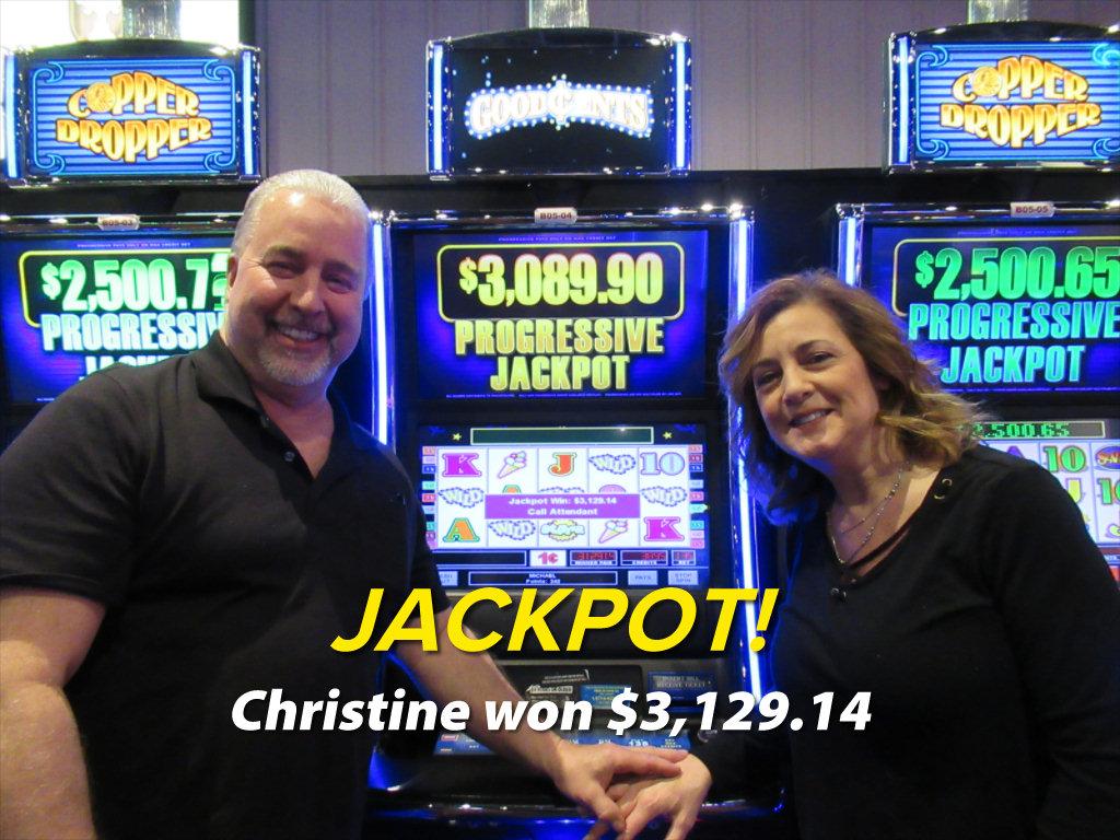 JACKPOT! Christine won $3,129.14