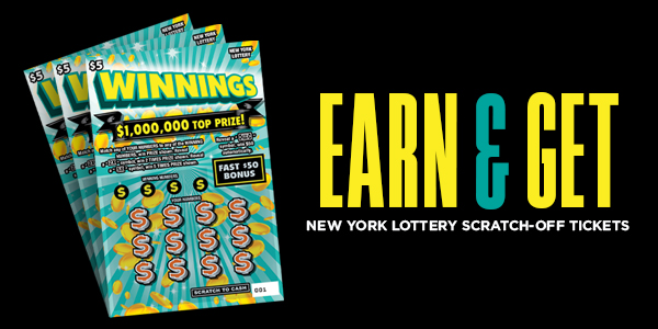 Earn & Get New York Lottery Scratch-Off Tickets