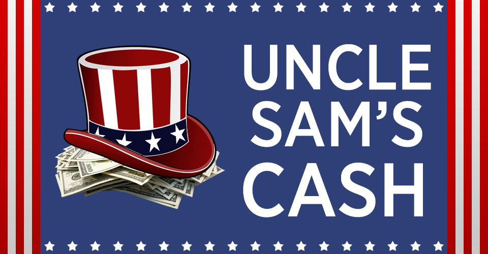 Racing Promotion: Uncle Sam's Cash Gameboard